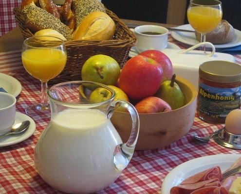 Alpenfrühstück Service Ferienappartement Ferlhof Krün