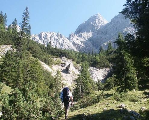 Wandern Outdoor Urlaub Ferienwohnung Ferlhof in Krün