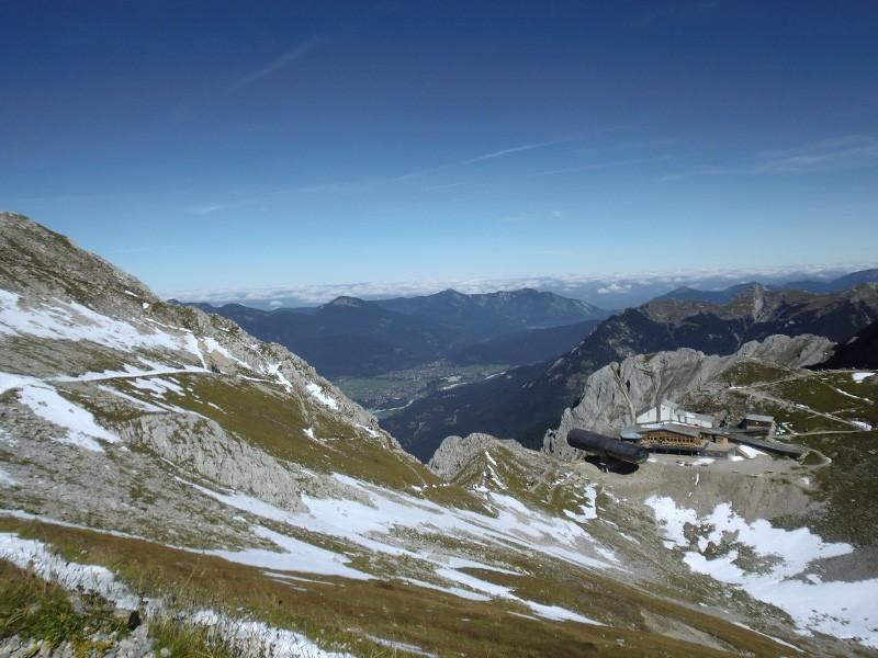 Blick auf das Karwendel- und Wettersteingebirge Ferienappartement Ferlhof Krün